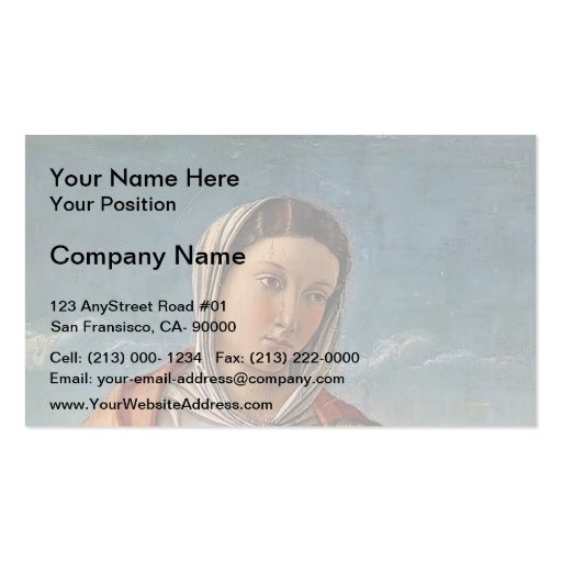Giovanni Bellini- Madonna with the Child Business Cards