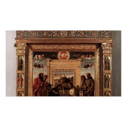 Giovanni Bellini- Pesaro Altarpiece Business Card