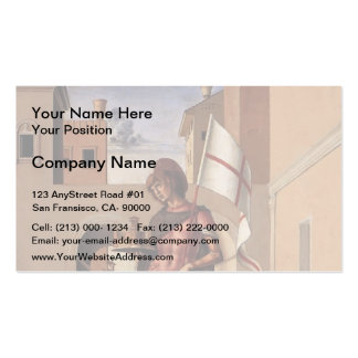 Giovanni Bellini- Pesaro Altarpiece (predella) Double-Sided Standard Business Cards (Pack Of 100)