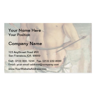 Giovanni Bellini-Polyptych of San Vincenzo Ferreri Double-Sided Standard Business Cards (Pack Of 100)