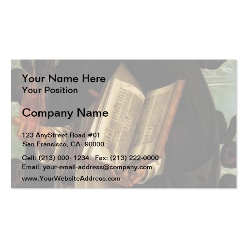 Giovanni Bellini-Polyptych of San Vincenzo Ferreri Business Card Templates