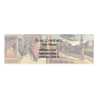 Giovanni Bellini-Polyptych of San Vincenzo Ferreri Double-Sided Mini Business Cards (Pack Of 20)