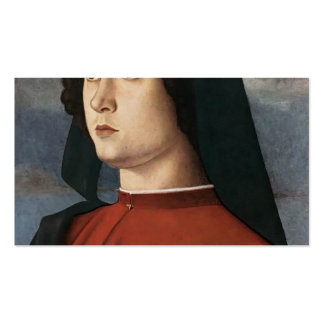 Giovanni Bellini- Portrait of a Young Man in Red Double-Sided Standard Business Cards (Pack Of 100)