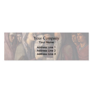 Giovanni Bellini- Presentation at the Temple Business Card Templates