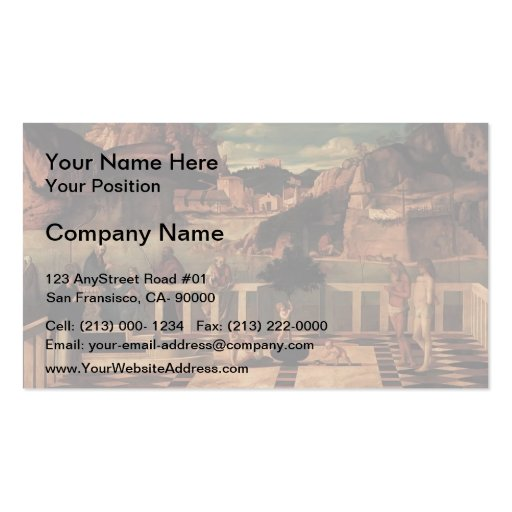 Giovanni Bellini- Sacred Allegory Business Cards