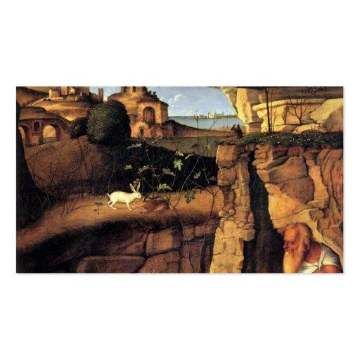 Giovanni Bellini- Saint Jerome Reading Business Cards