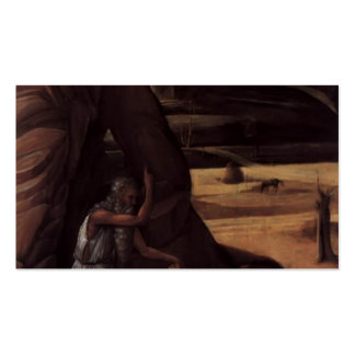 Giovanni Bellini- St Jerome in the Wilderness Business Card Templates