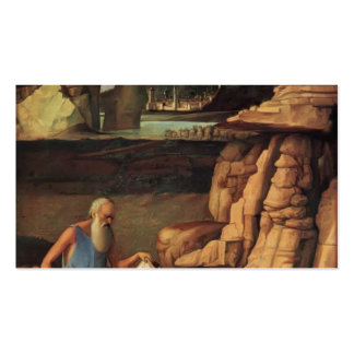 Giovanni Bellini- St Jerome Reading in Countryside Business Card Template