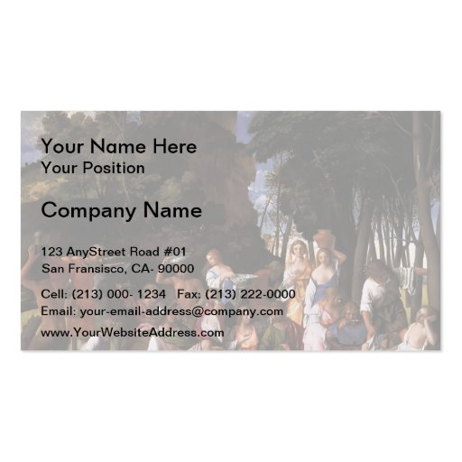 Giovanni Bellini- The Feast of the Gods Business Card Template