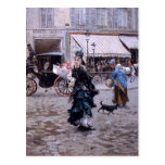 Giovanni Boldini- Crossing the Street Postcard
