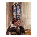 Giovanni Boldini- Portrait of a Man in Church Postcard
