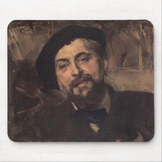 Giovanni Boldini- Portrait of Ernest Ange Duez Mousepad