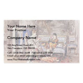 Giovanni Boldini- The Conversation Pack Of Standard Business Cards