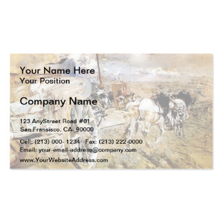 Giovanni Boldini- The dump at the door of Asier Pack Of Standard Business Cards