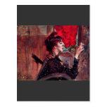 Giovanni Boldini - The red curtain Post Card