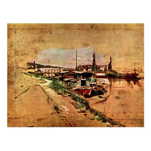 Giovanni Boldini - The Seine at Bougival Post Card