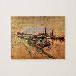 Giovanni Boldini - The Seine at Bougival Jigsaw Puzzle
