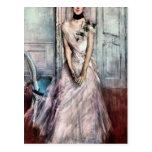 Giovanni Boldini - White pastel picture Postcards