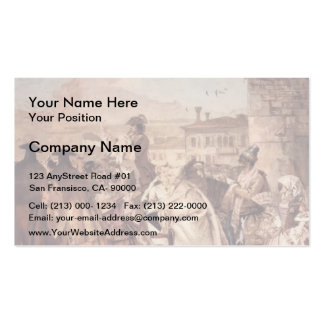 Giovanni Domenico Tiepolo: The barker Pack Of Standard Business Cards