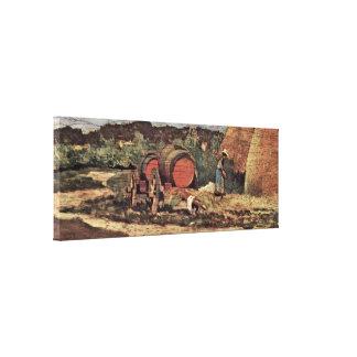 Giovanni Fattori - Die red barrels Canvas Prints