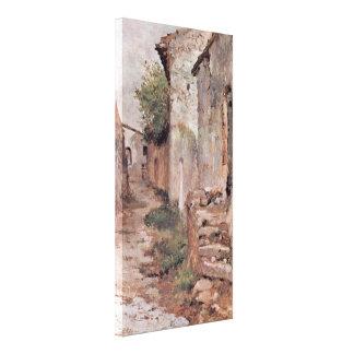 Giovanni Fattori - Dorfstrasse Gallery Wrapped Canvas