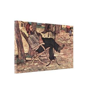 Giovanni Fattori - Martelli in Castiglioncello Gallery Wrapped Canvas