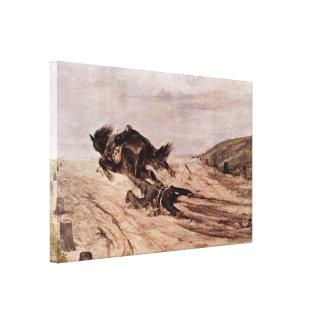 Giovanni Fattori - The stapes Canvas Prints