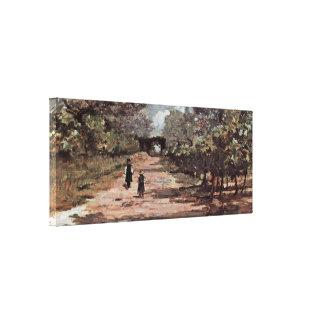 Giovanni Fattori - The tree-lined avenue Gallery Wrap Canvas