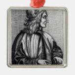 Giovanni Pico della Mirandola, from Silver-Colored Square Decoration