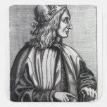Giovanni Pico della Mirandola, from Square Sticker