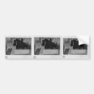 Giovanni Piranesi- Aurelian Walls Bumper Stickers