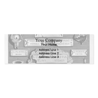 Giovanni Piranesi- Burial Chamber Double-Sided Mini Business Cards (Pack Of 20)