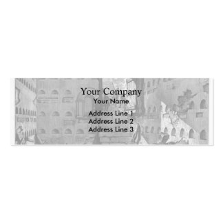Giovanni Piranesi- Burial chambers of a Family Double-Sided Mini Business Cards (Pack Of 20)