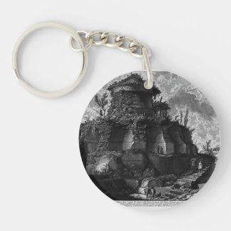 Giovanni Piranesi-Elevation of the Tomb of Scipios Key Chains