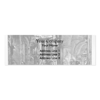 Giovanni Piranesi-Entrance of burial chamber Double-Sided Mini Business Cards (Pack Of 20)