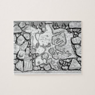 Giovanni Piranesi-Map of ancient Rome&Forma Urbis Jigsaw Puzzle