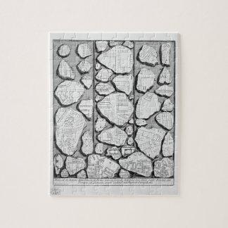 Giovanni Piranesi-Map of ancient Rome&Forma Urbis Jigsaw Puzzle