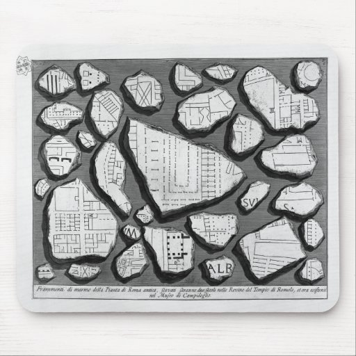 Giovanni Piranesi- Map of ancient Rome&Forma Urbis Mousepad