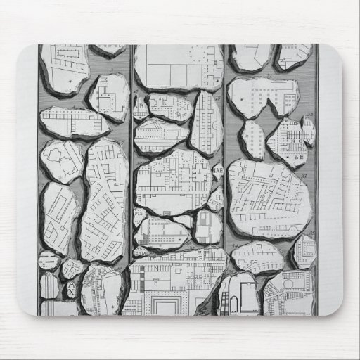 Giovanni Piranesi-Map of ancient Rome&Forma Urbis Mousepad