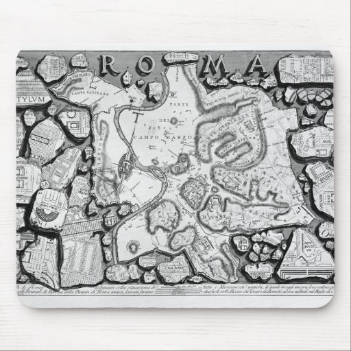Giovanni Piranesi-Map of ancient Rome&Forma Urbis Mouse Pads