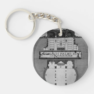 Giovanni Piranesi- Plan & elevation of a chamber Acrylic Keychain