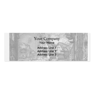 Giovanni Piranesi-Plan of the burial chambers Business Card Templates