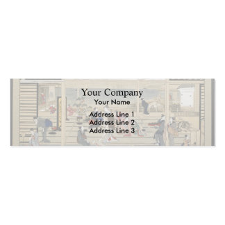Giovanni Piranesi-Plan of the burial chambers Double-Sided Mini Business Cards (Pack Of 20)