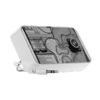 Giovanni Piranesi-Plate of topography of Rome iPhone Speaker