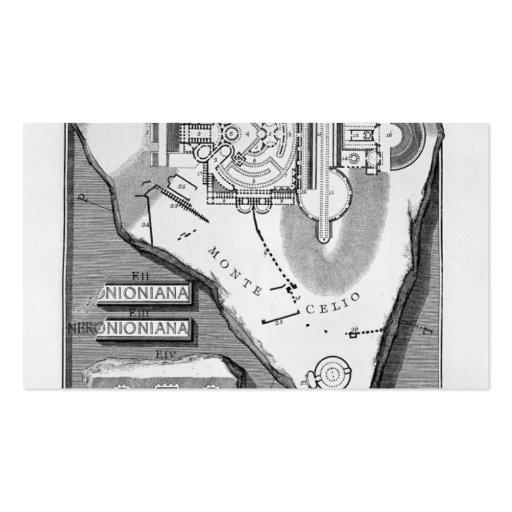 Giovanni Piranesi-The Roman antiquities of Stadium Business Card Template