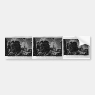 Giovanni Piranesi-Veduta with ruins of Nero House Bumper Sticker