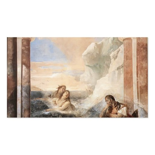 Giovanni Tiepolo: Achilles consoled by his mother Business Card Templates