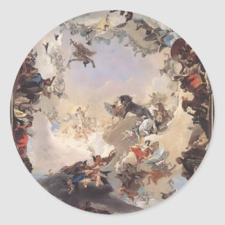 Giovanni Tiepolo-Allegory of Planets,Continents Stickers
