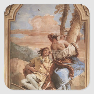 Giovanni Tiepolo: Angelica Carving Medoro's Name Stickers
