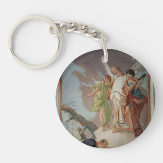 Giovanni Tiepolo:Appearance of angels to Abraham Acrylic Keychains